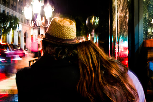Lovers watching the rain, late night Los Angeles (C)2011 Glenn Primm Photography