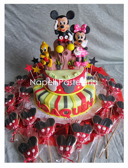 Cookies y Torta Minnie y Mickey