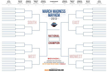 ... March Madness Men's 2013 Brackets - Printable NCAA Bracket (Teams
