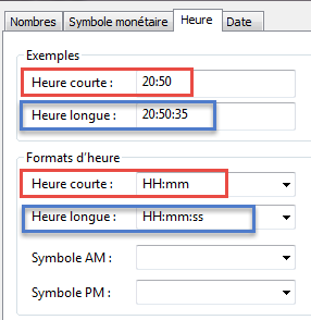 Format heure Windows