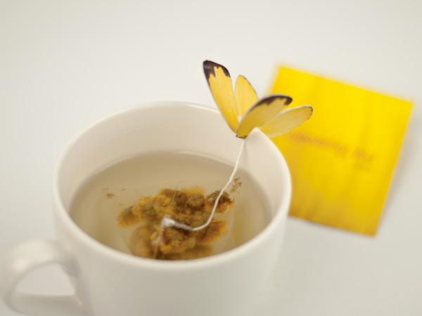 Bolsas de te con mariposa - Butterfly Tea - yena lee