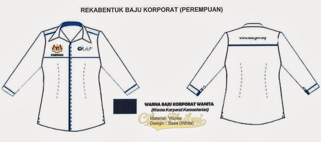 Baju Korporat rasmi KPM bagi pegawai / kakitangan perempuan