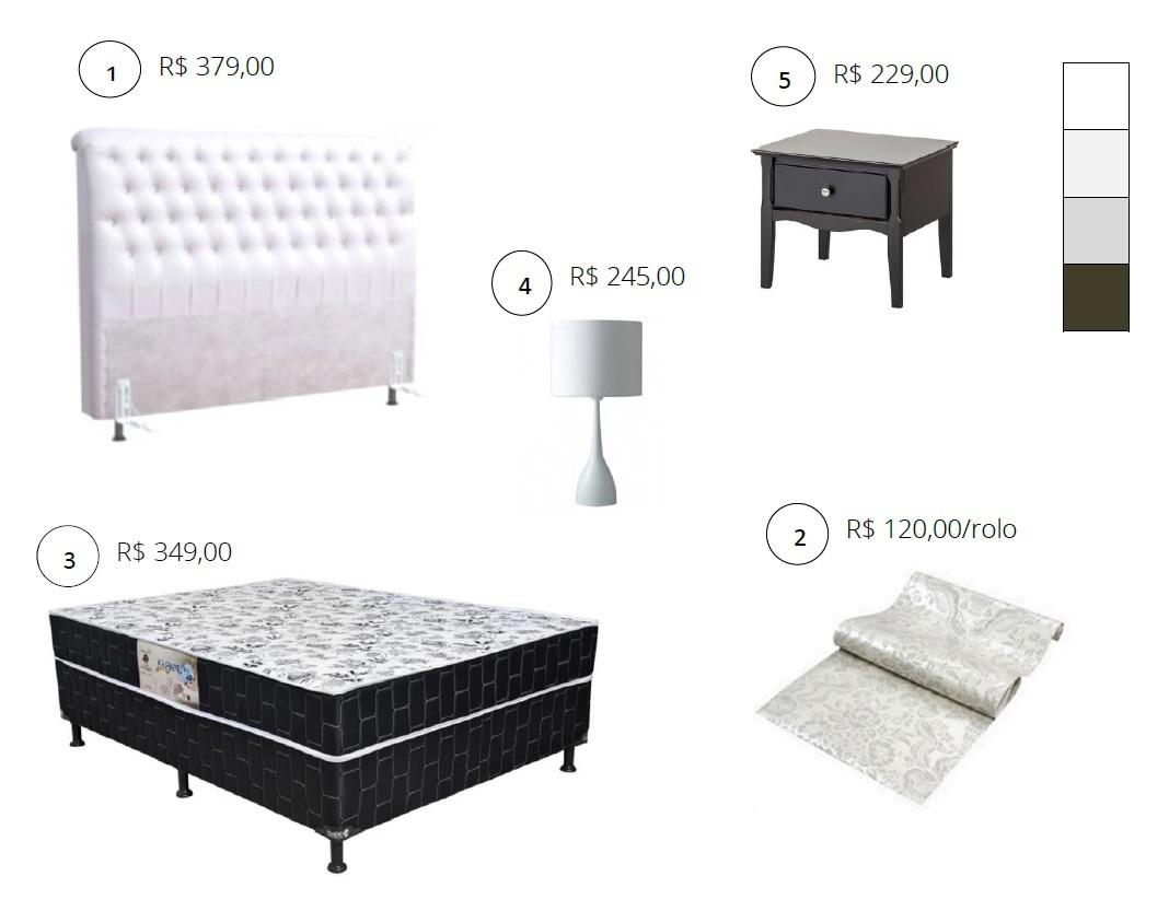 decoracao alternativa para quarto de casal:Cabeceira capitonê para quarto de casal