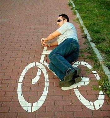 Bicicleta chistosa