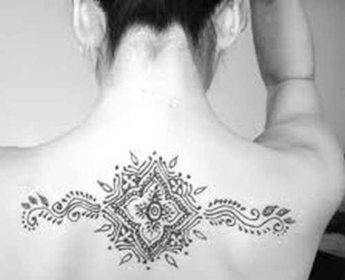 Stylish Back Body Henna Tattoo