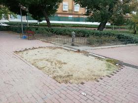 La Comisión Vecinal de Bellas Vistas denuncia el abandono de los jardines de Carlos París