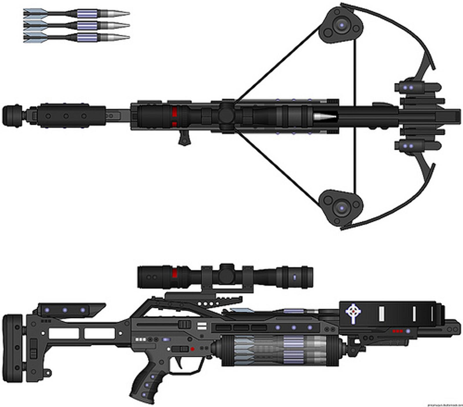 SCI FI GUNS  WEAPONS  HANDGUNS  LASER RIFLESVan Helsing Weapons