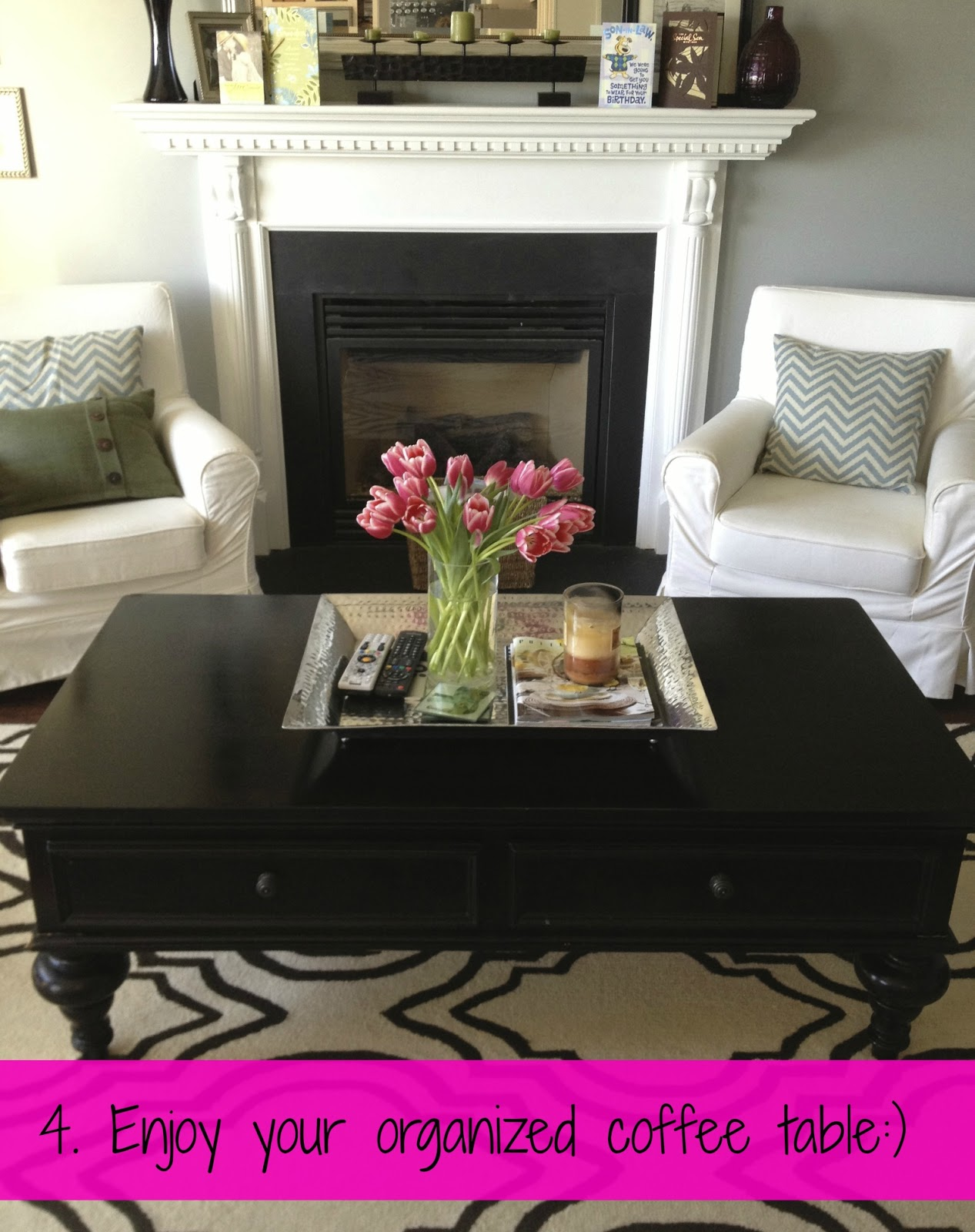 Coffee Table Decor & Organization Live Nest Love