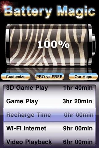 تطبيق مجاني لتقدير عمر البطارية وعرض معلومات تفصيلية عنها للأيفون و Battery Magic 4.9 iOS