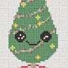 kawaii christmas tree cross stitch chart