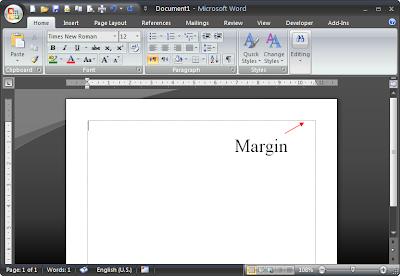 cara menampilkan atau menyembunyikan garis margin / text boundaries