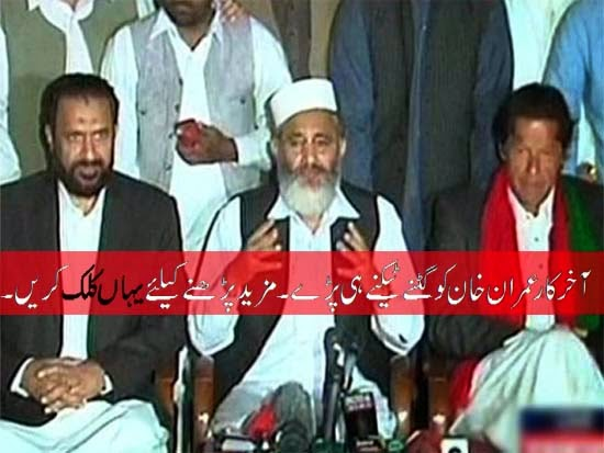 Imran khan agreed to investigation without any resignation