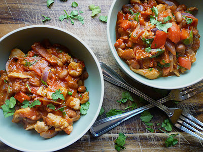 Chicken, Chorizo and Borlotti Bean Stew