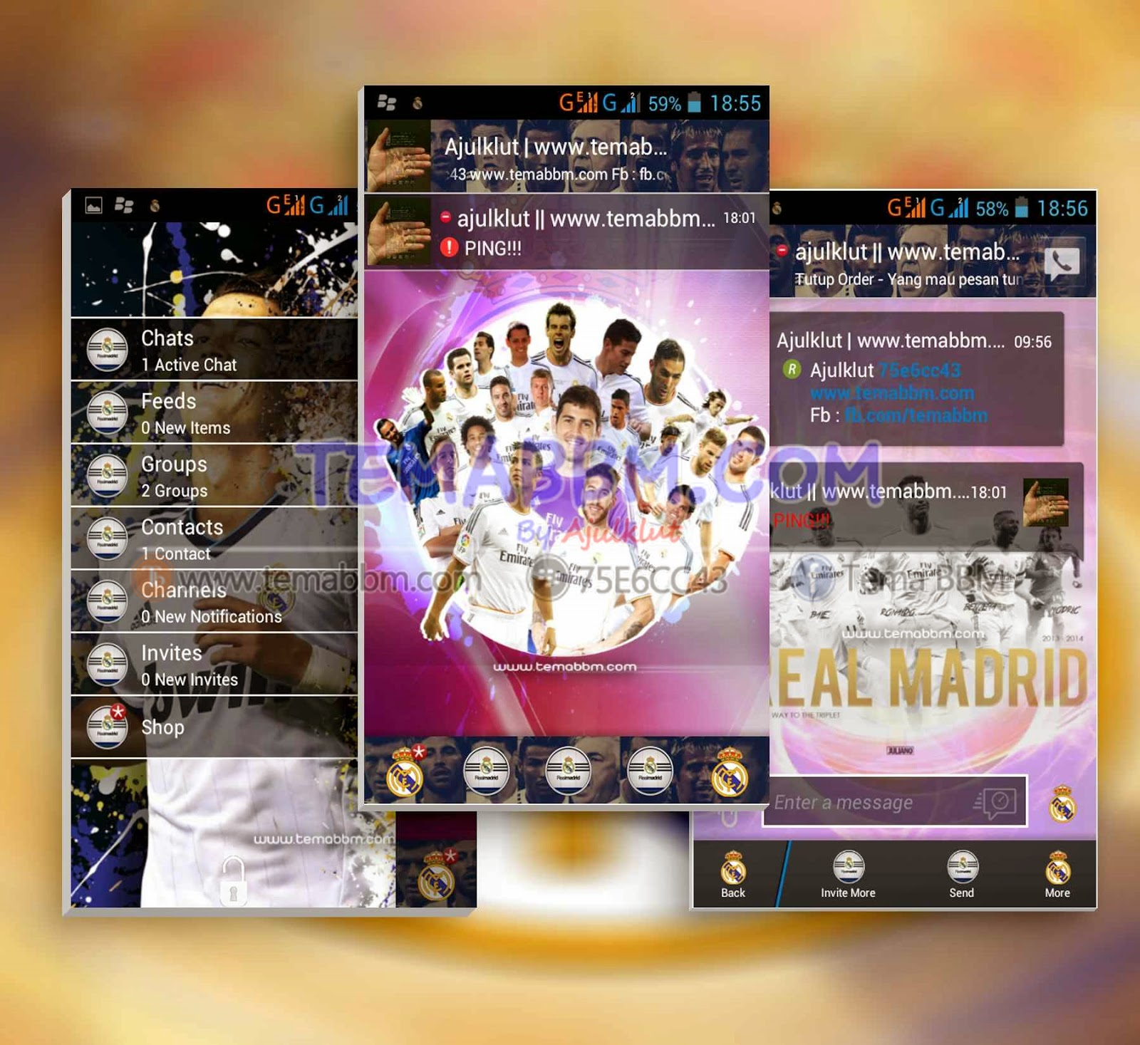 Tema BBM Real Madrid