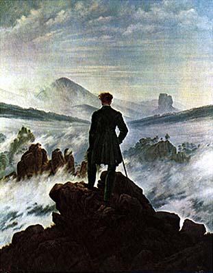 Caspar friedrick for Hopper finestra sul mare