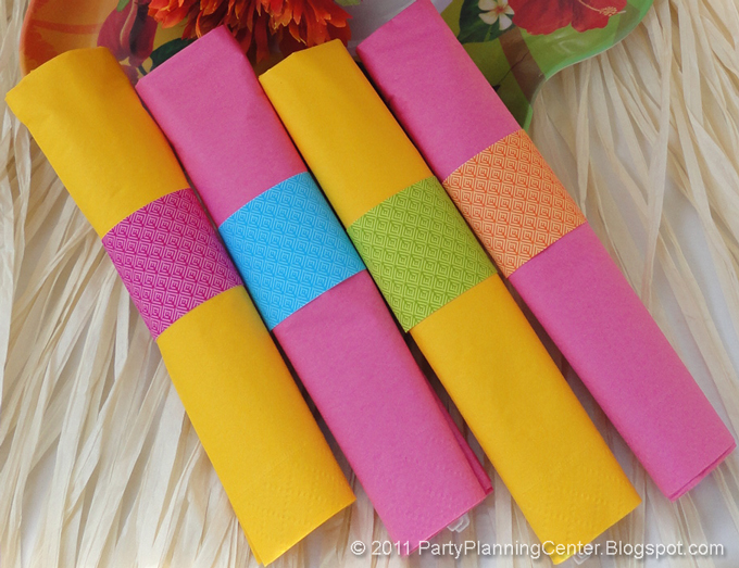 party planning center free printable luau paper napkin rings. Black Bedroom Furniture Sets. Home Design Ideas
