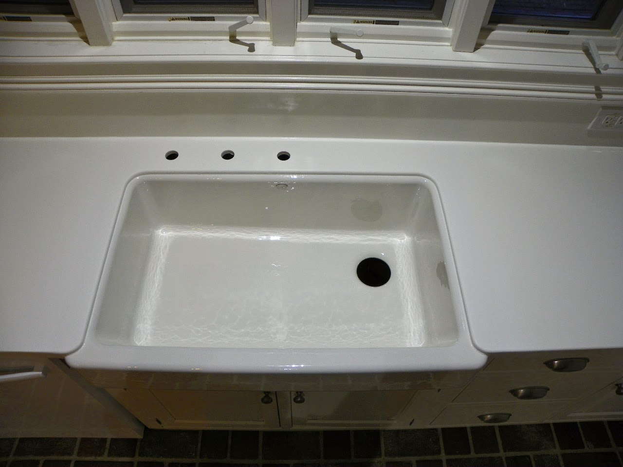 Ideal The Solid Surface and Stone Countertop Repair Blog Retro Fit Undermount Farm Sink Installation in Pinehurst NC