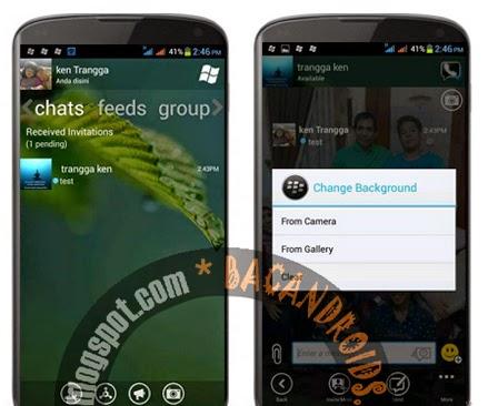 download BBM Mod WindowsPhone + Change Background via Camera atau Gallery