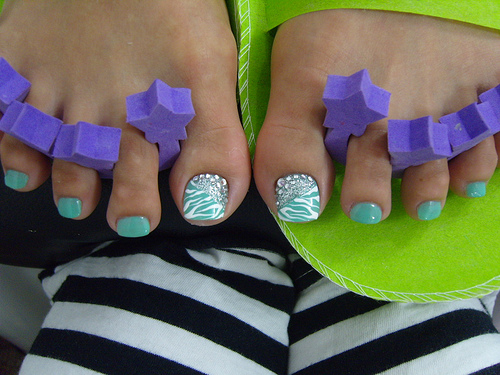 The Awesome Cute blue nail art designs Digital Imagery