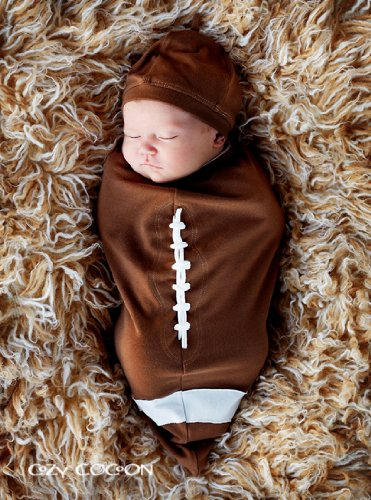 super cute the material is good quality and it looks just the same in person as it did online cant wait to put my baby boy in it - Infant Football Halloween Costume
