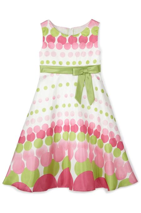 فستان طويل كصورة بلون متعدد جميل لبنت طفلة