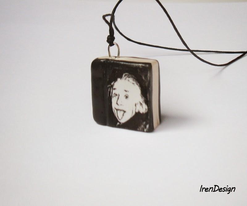 book pendant handmade