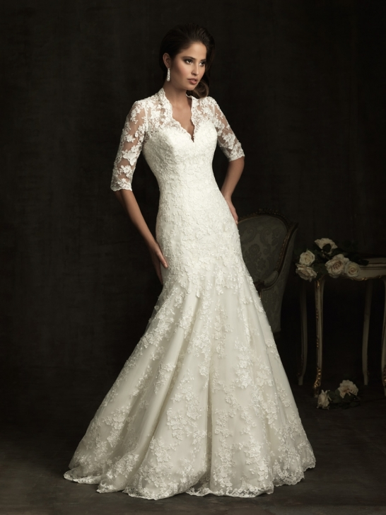 Wedding Dresses With 3 4 Sleeves 116