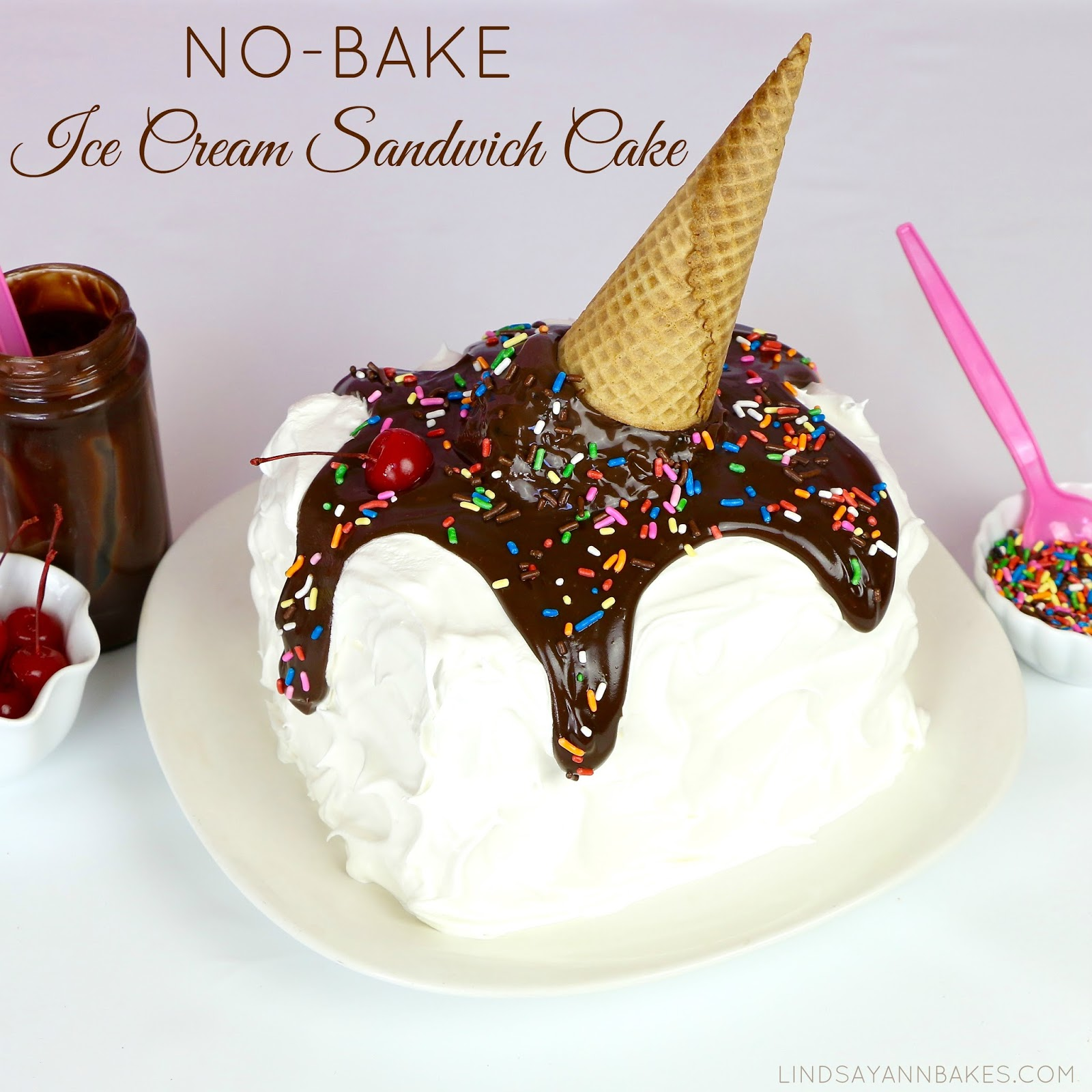 Make Icecream Cake Using Ice Cream Sandwiches