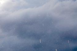 'Eingefrorene' Regentropfen...