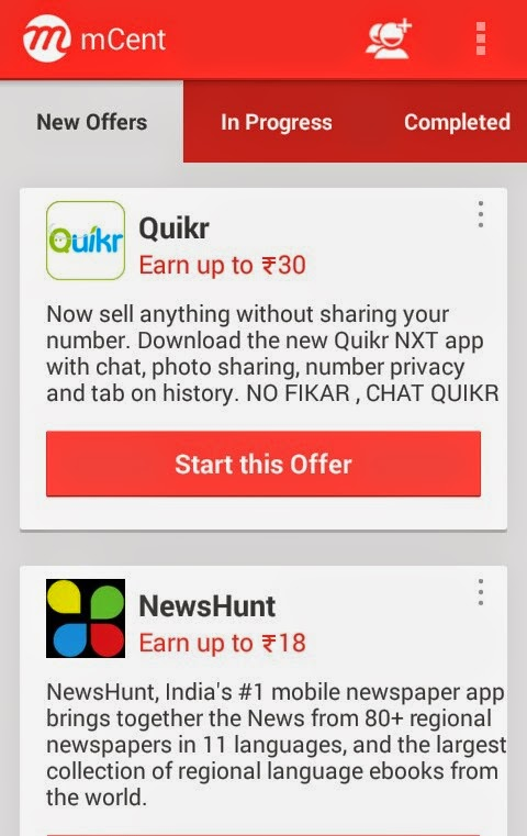 Download Quikr App & Get Free Rs 30 Mobile Top up - Mcent