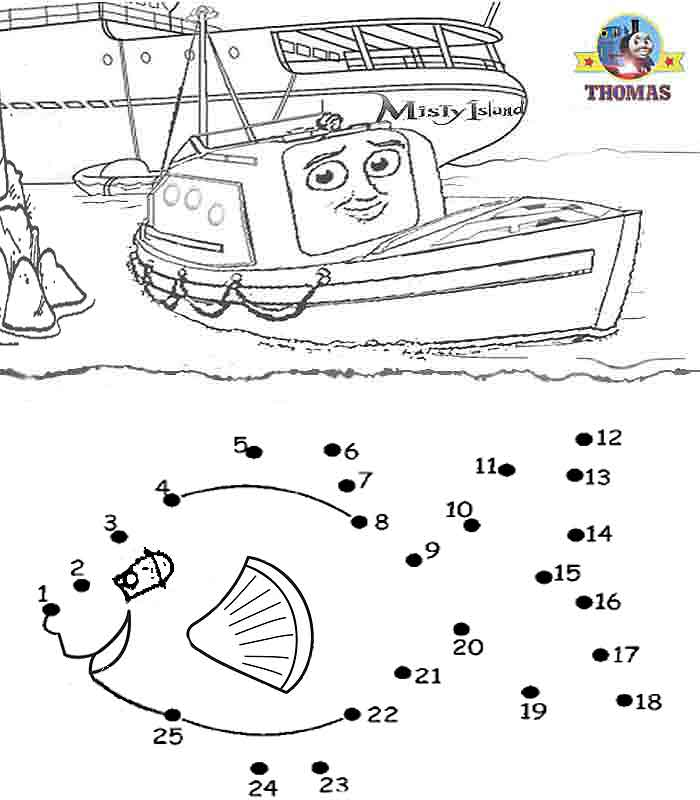 coloring pictures free online Thomas tank engine and friends sea fish title=