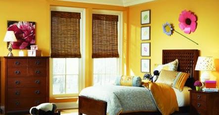 rumahku-syurgaku: dekorasi bilik tidur berwarna kuning