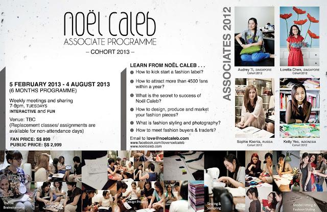 Noel Caleb assosiate programme, singapore