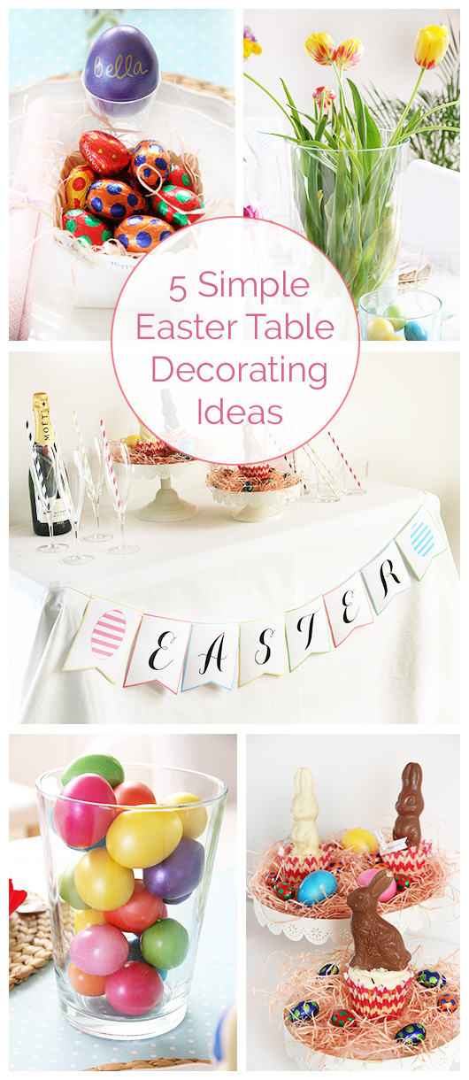 5 Simple Easter Table Decorating Ideas | Paper & Party Love