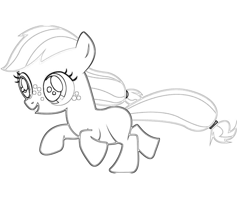 47 My Little Pony Applejack Coloring Page