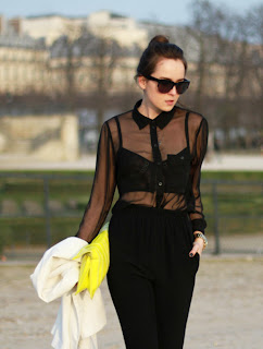 Kleidung mit Transparenz trendy Sommer 2013