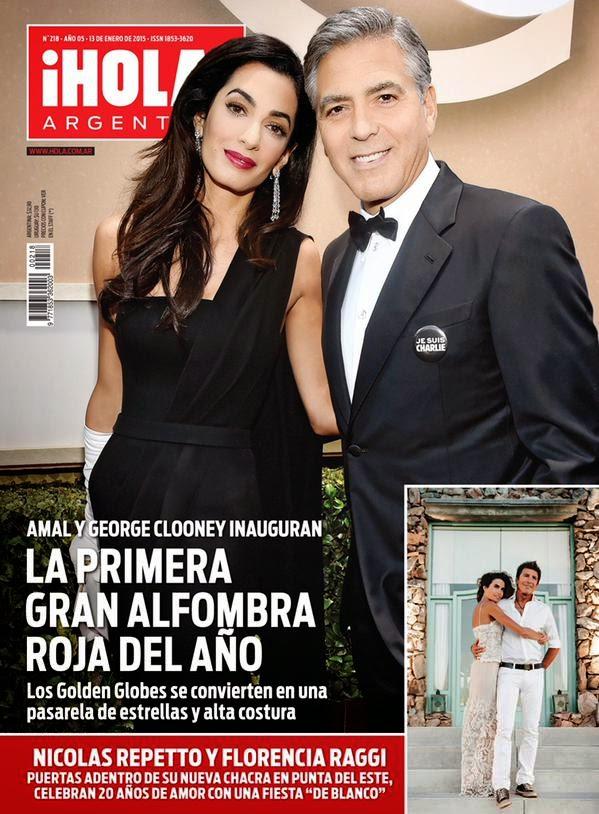 George Clooney, Amal Alamuddin - Hola! Magazine, Argentina, January 2015