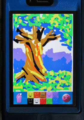 iphone doodle, iphone drawing, iphone tree drawing, iphone doodling
