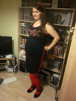Upcycled Maternity Dress