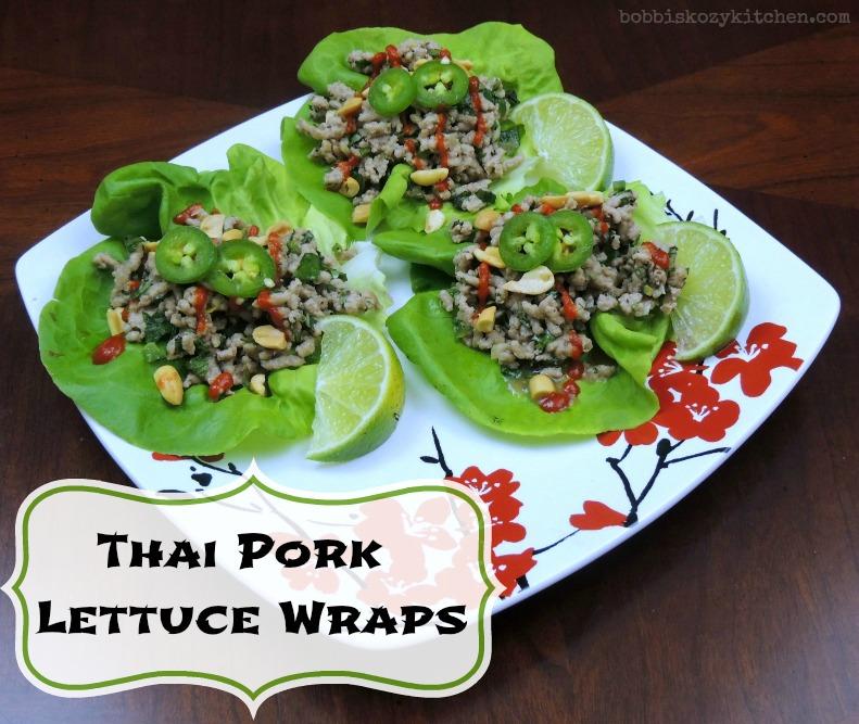 Thai Pork Lettuce Wraps for Two | Bobbi's Kozy Kitchen