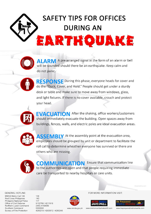 What to do during earthquake if you are in office?