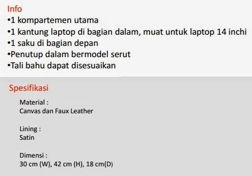 Jual Tas Laptop Bonjour Remi Pekanbaru