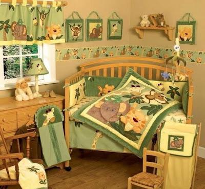 cuarto de bebé safari