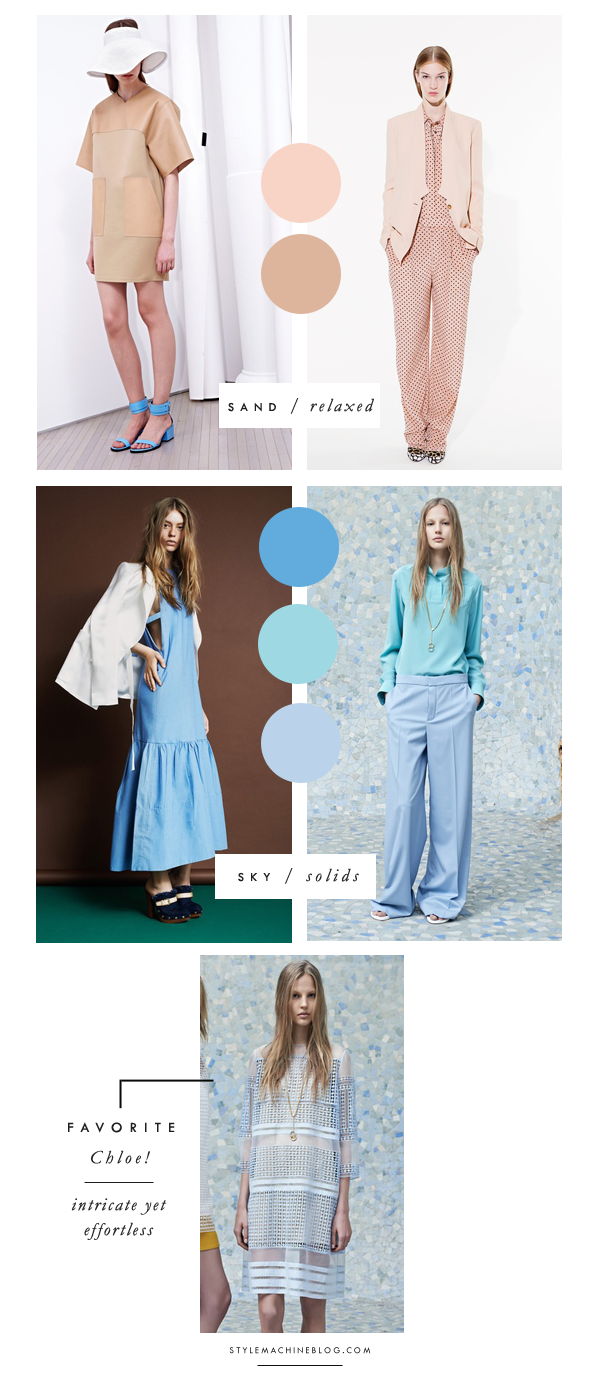 Color & Trend  on the Resort 2014 Runways