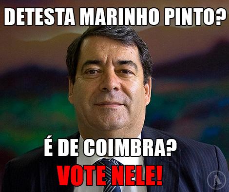 Marinho Pinto - Detesta marinho pinto? É de Coimbra? Vote nele!