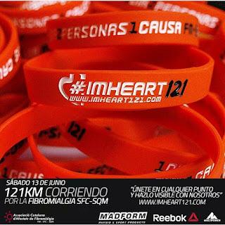 imheart121 reto solidario 121km corriendo pulseras reebok multipower madform