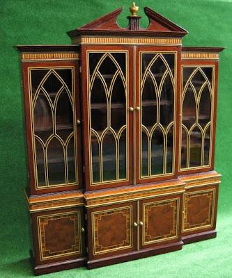 miniature breakfront bookcase