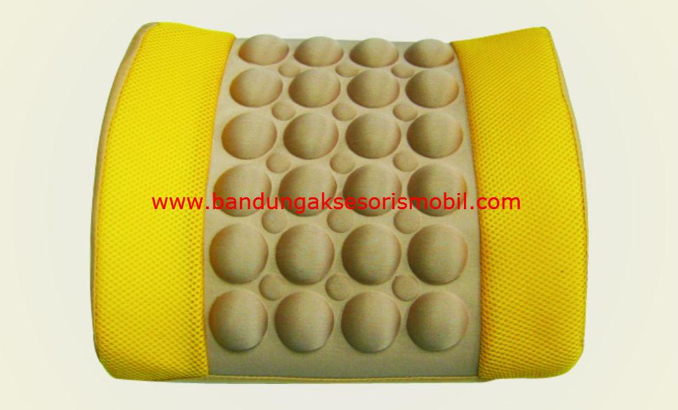 Sandaran Pijat Elektrik Cream Kuning