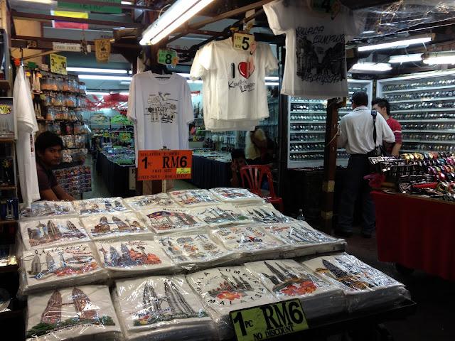 Camisetas Souvenirs, Kuala Lumpur