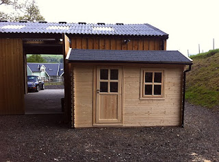 bespoke log cabin tack room